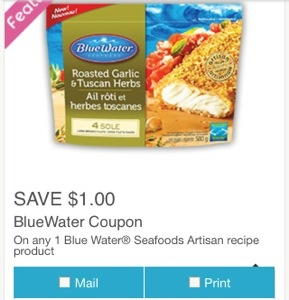 Blue Water Seafood Coupon Canada