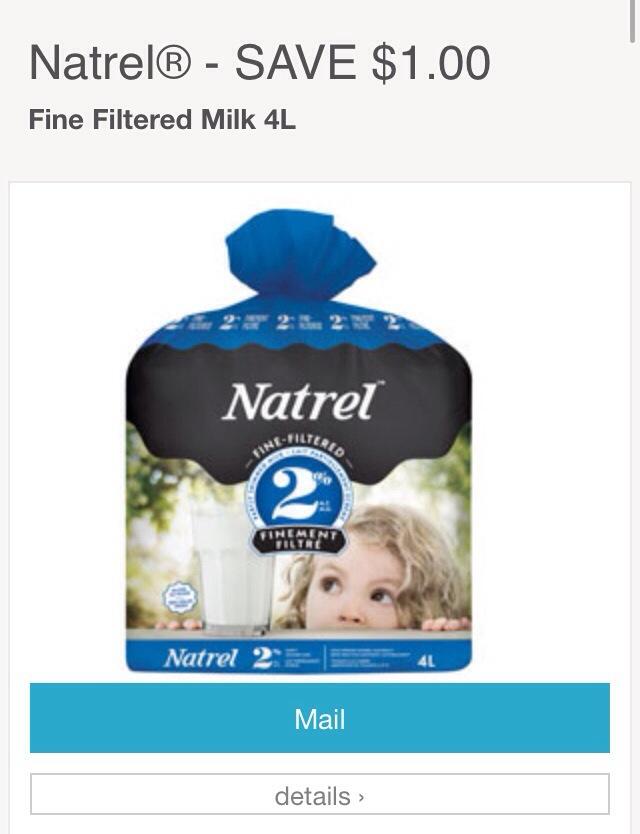 Natrel Milk Coupon Canada