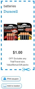 Duracell Coupon - Save $1 on Duracell Batteries Canada Coupon