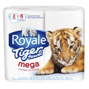 Royale Coupon - Save $1 on Royale Tiger Paper Towels