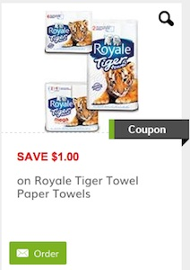 Royale Coupon - Save $1 on Royale Tiger Paper Towels Canada