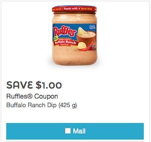 Ruffles Coupon - Save $1 on ruffles dip Canada