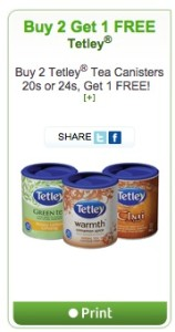 Tetley Tea Coupon - Buy 2 get 1 free Canada