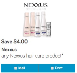 Nexxus Coupon Save $4 on Shampo